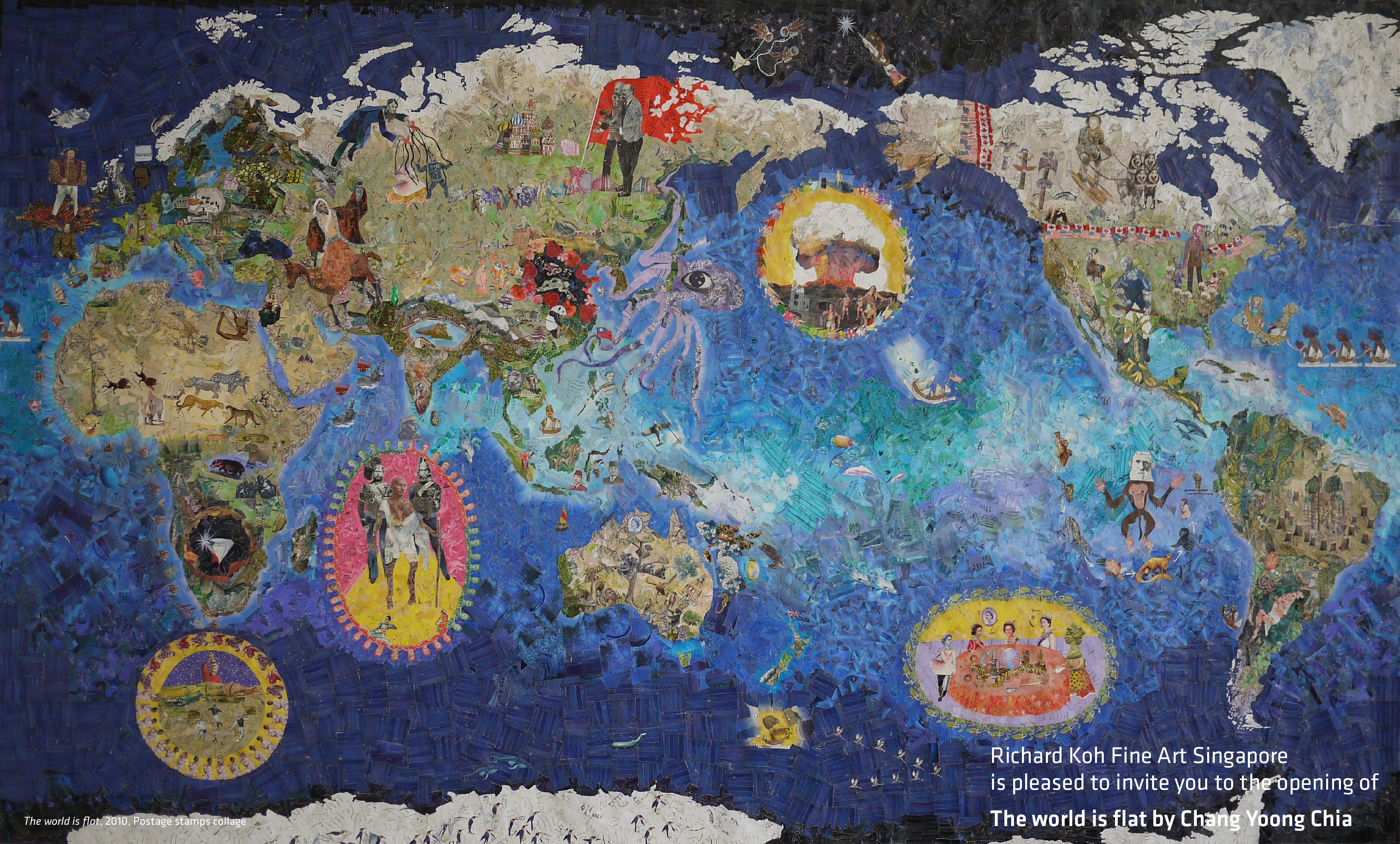 The world is flat richard koh fine art singapore artinasia the world is flat gumiabroncs Choice Image